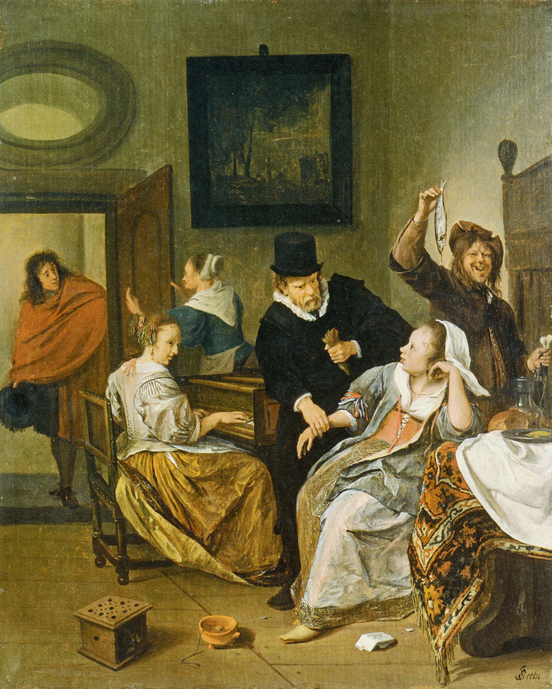 Jan Steen - A Doctor Checking a Woman