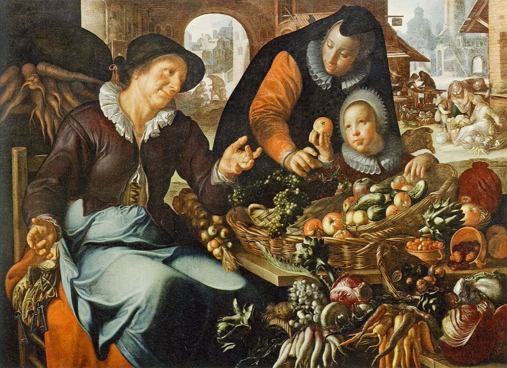 Joachim Wtewael - Woman Selling Vegetables