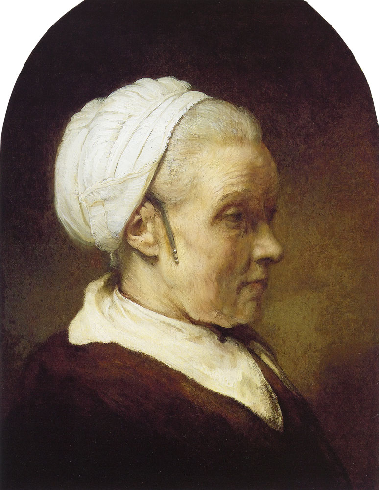 Rembrandt - Study of an Elderly Woman