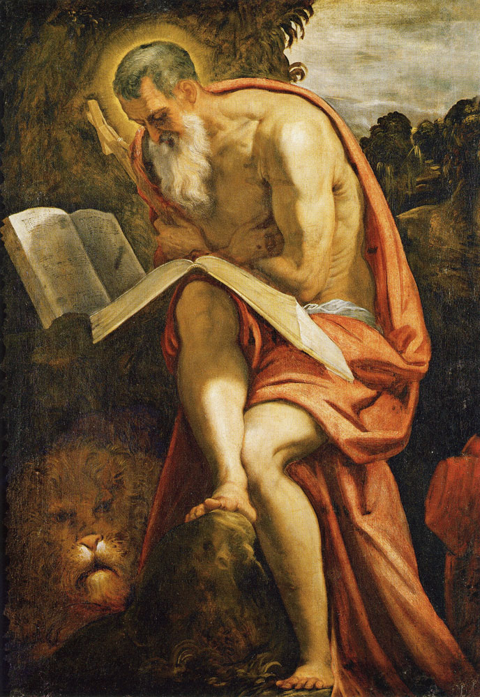 Tintoretto - Saint Jerome in the Wilderness