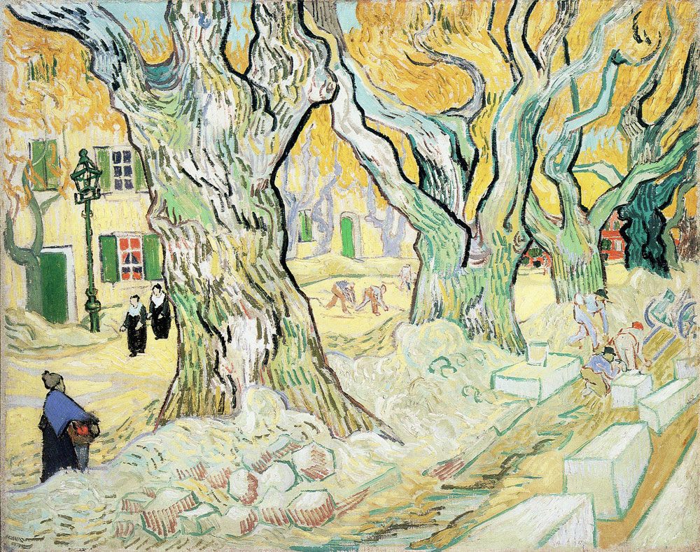 Vincent van Gogh - Road Menders in a Lane with Massive Plane Trees