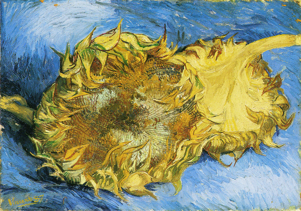 Vincent van Gogh - Two Cut Sunflowers, One Upside Down