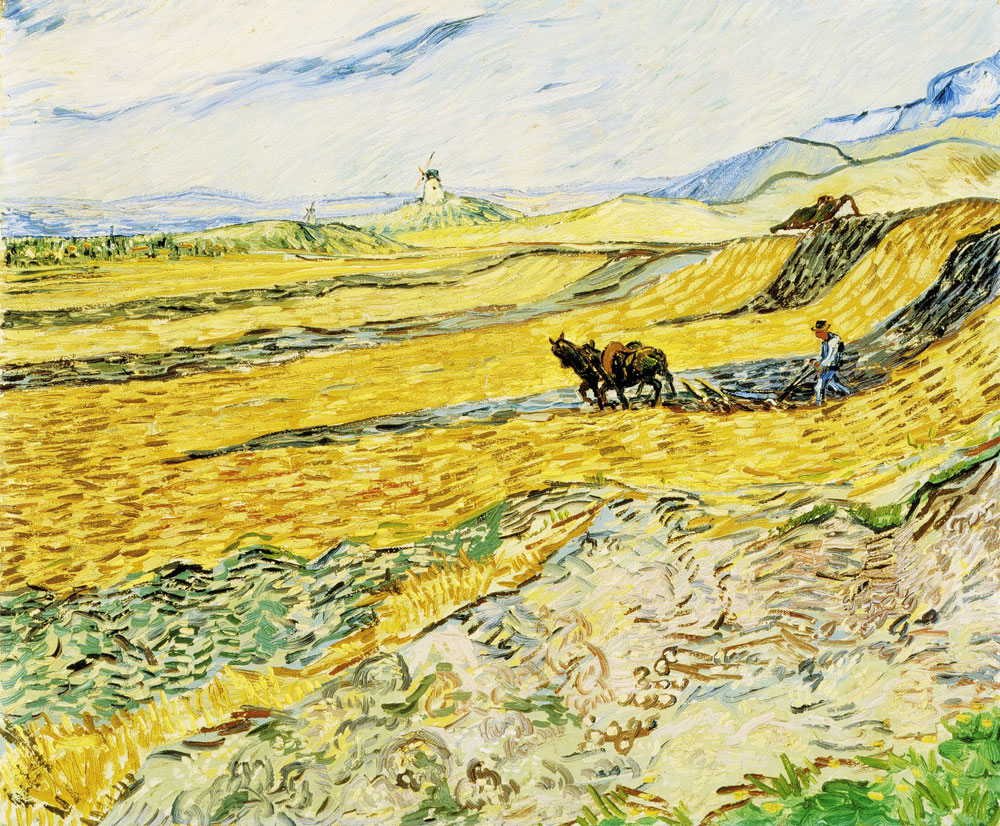 Vincent van Gogh - Field with Ploughman