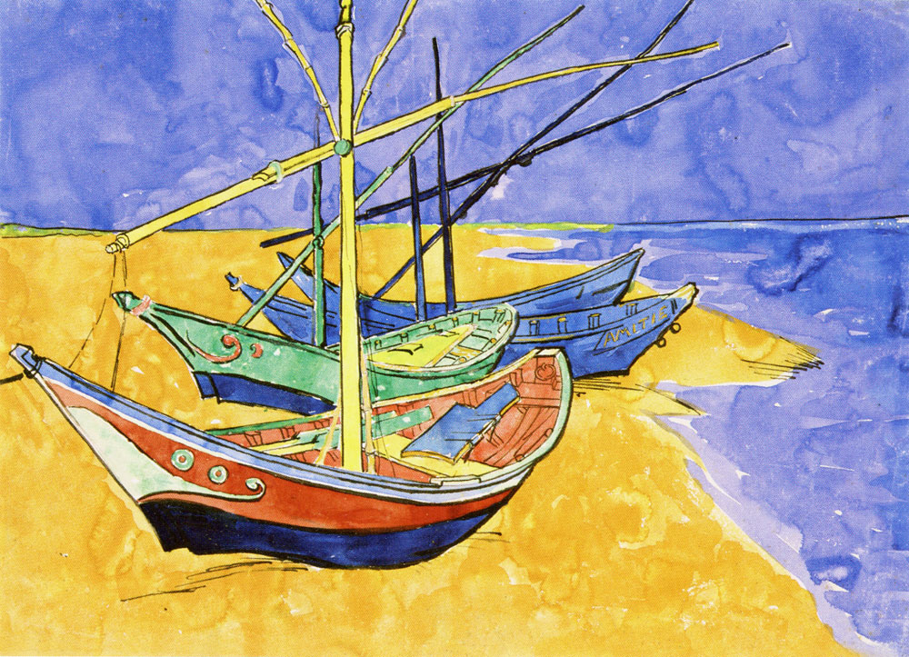 Vincent van Gogh - Fishing Boats on the Beach