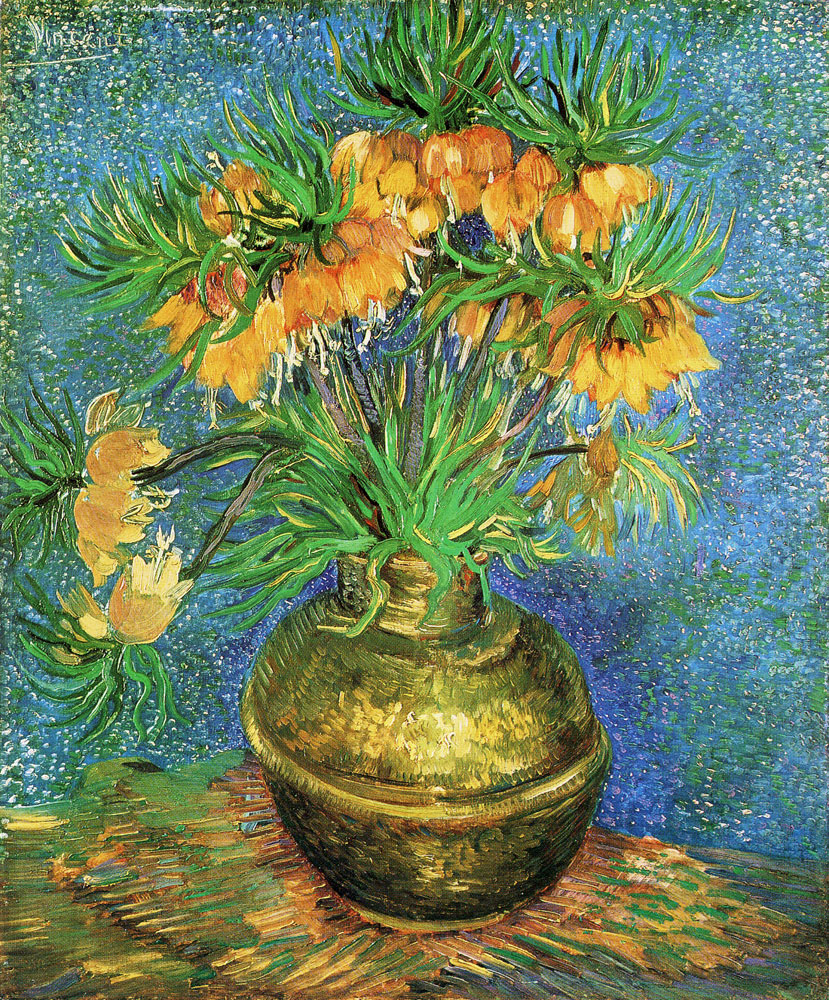 Vincent van Gogh - Fritillarias in a Copper Vase