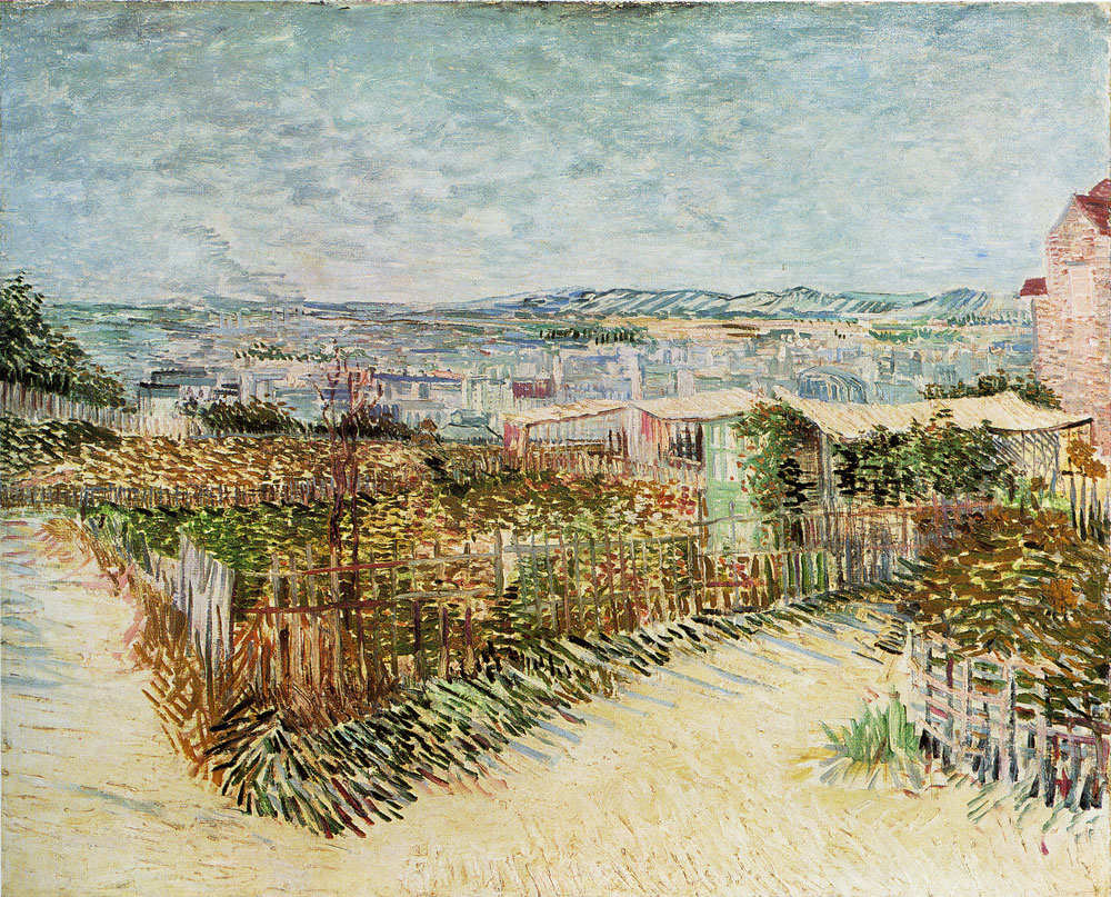 Vincent van Gogh - The Gardens of Montmartre