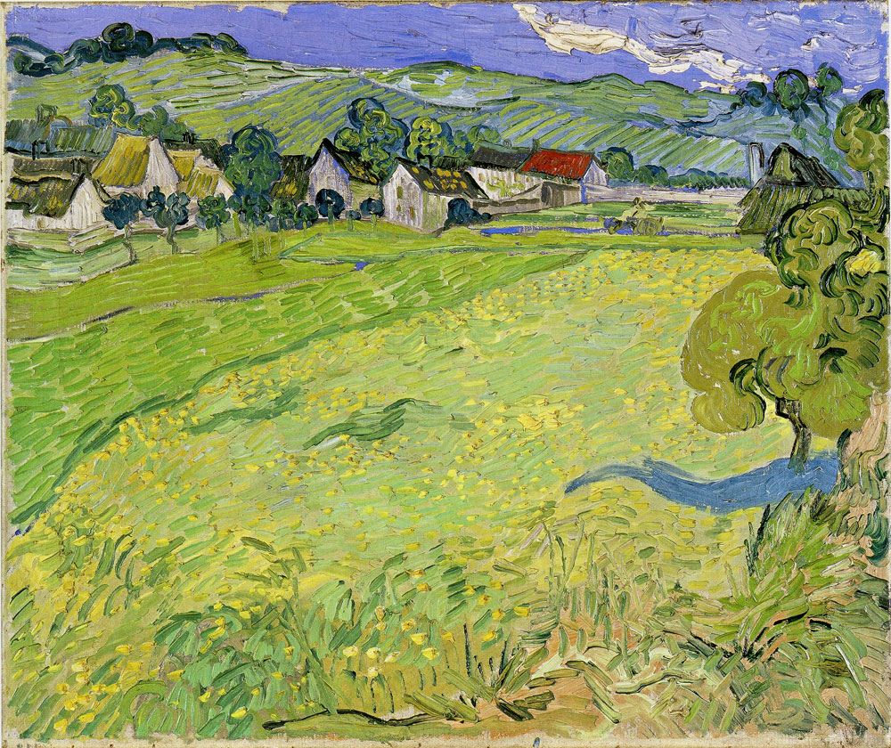 Vincent van Gogh - A Group of Houses in a Landscape