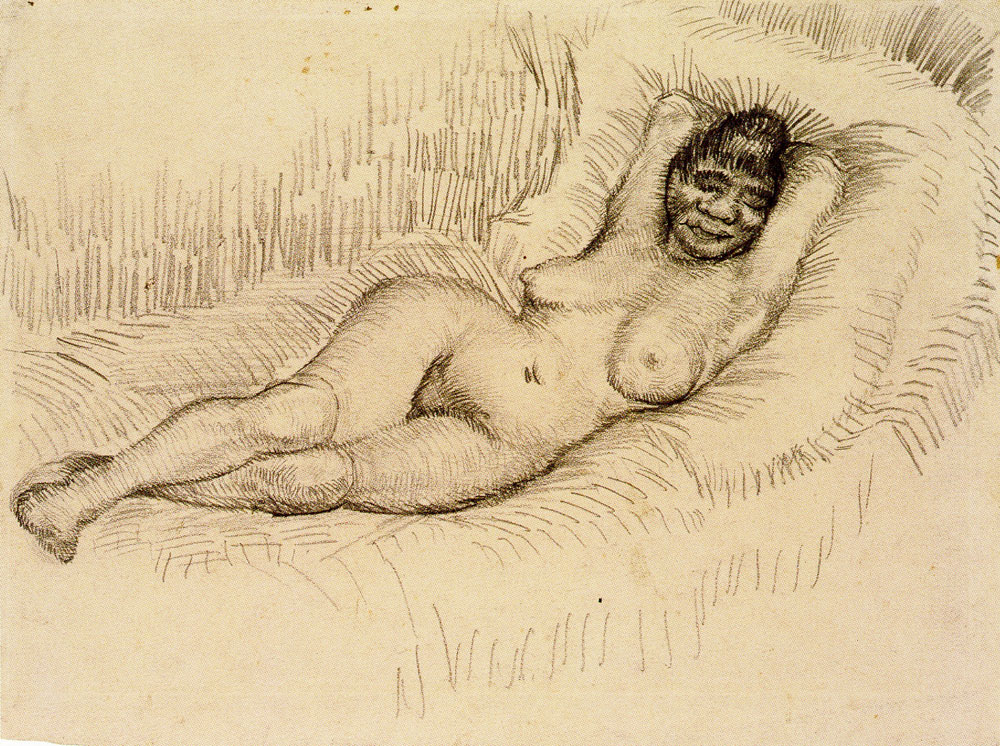 Vincent van Gogh - Nude Woman, Reclining