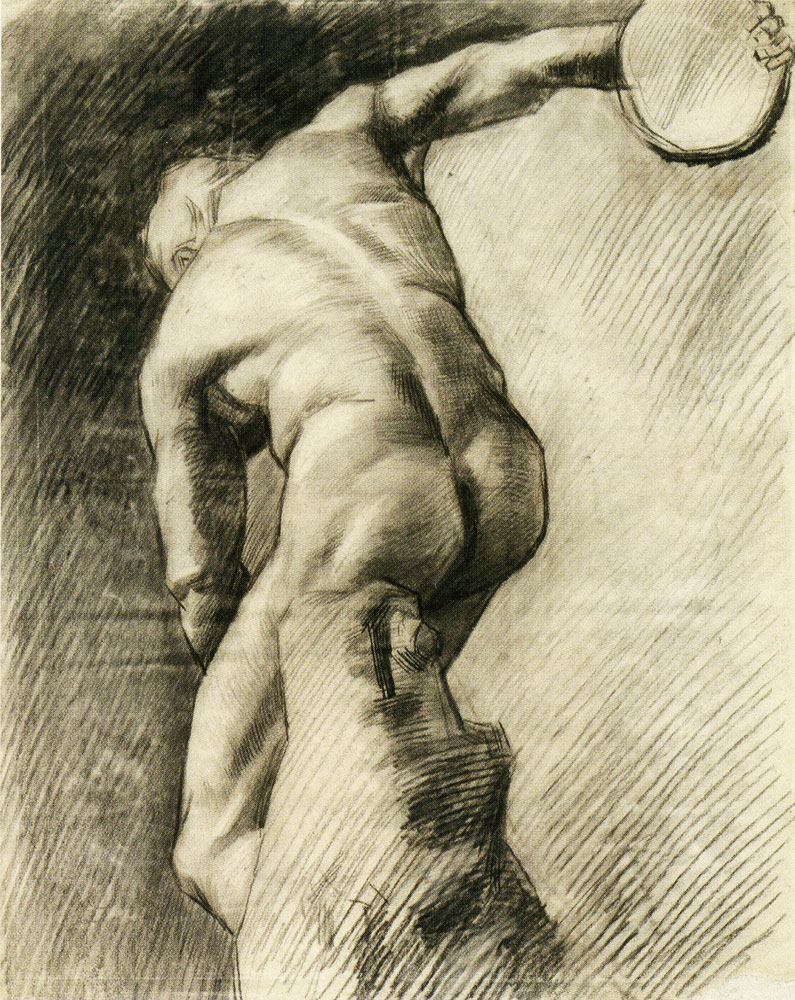 Vincent van Gogh - Plaster Statuette of  'The Discus Thrower'
