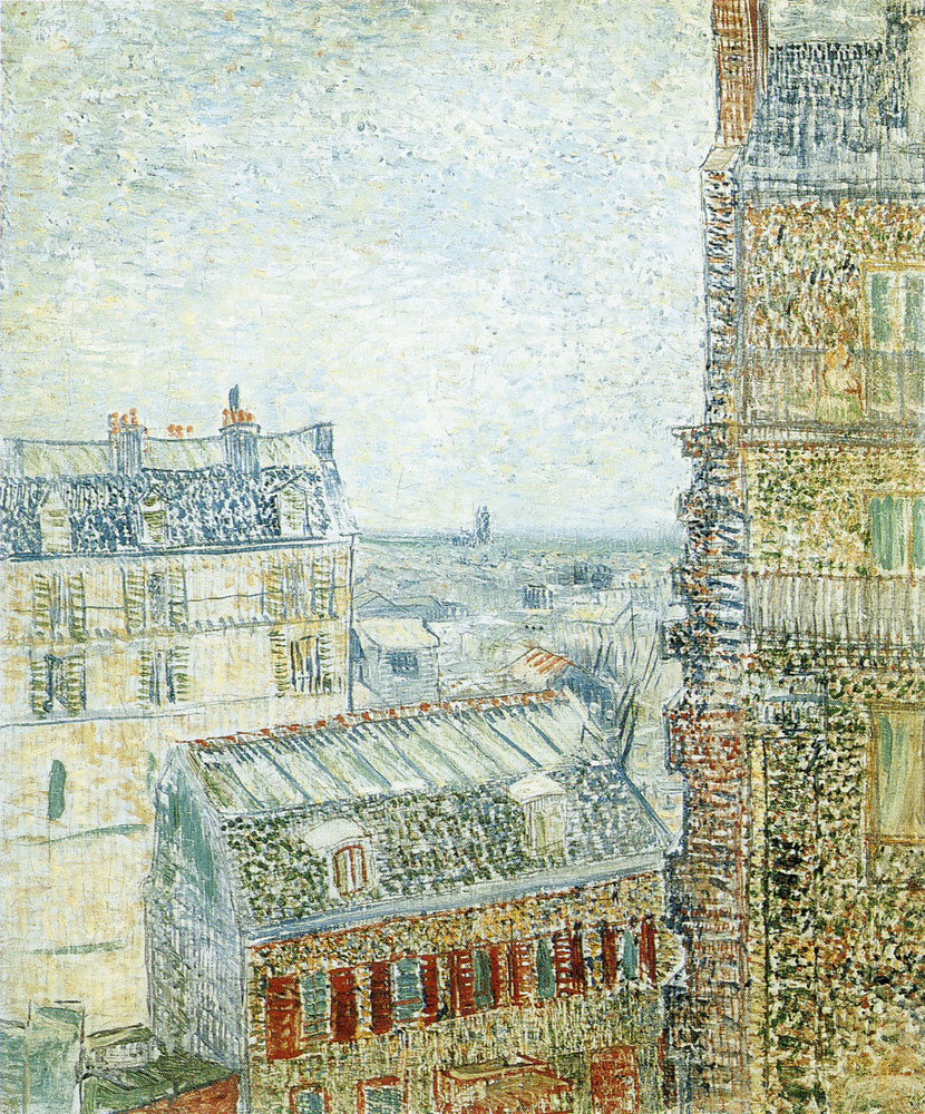 Vincent van Gogh - View from Vincent's Window (Rue Lepic)