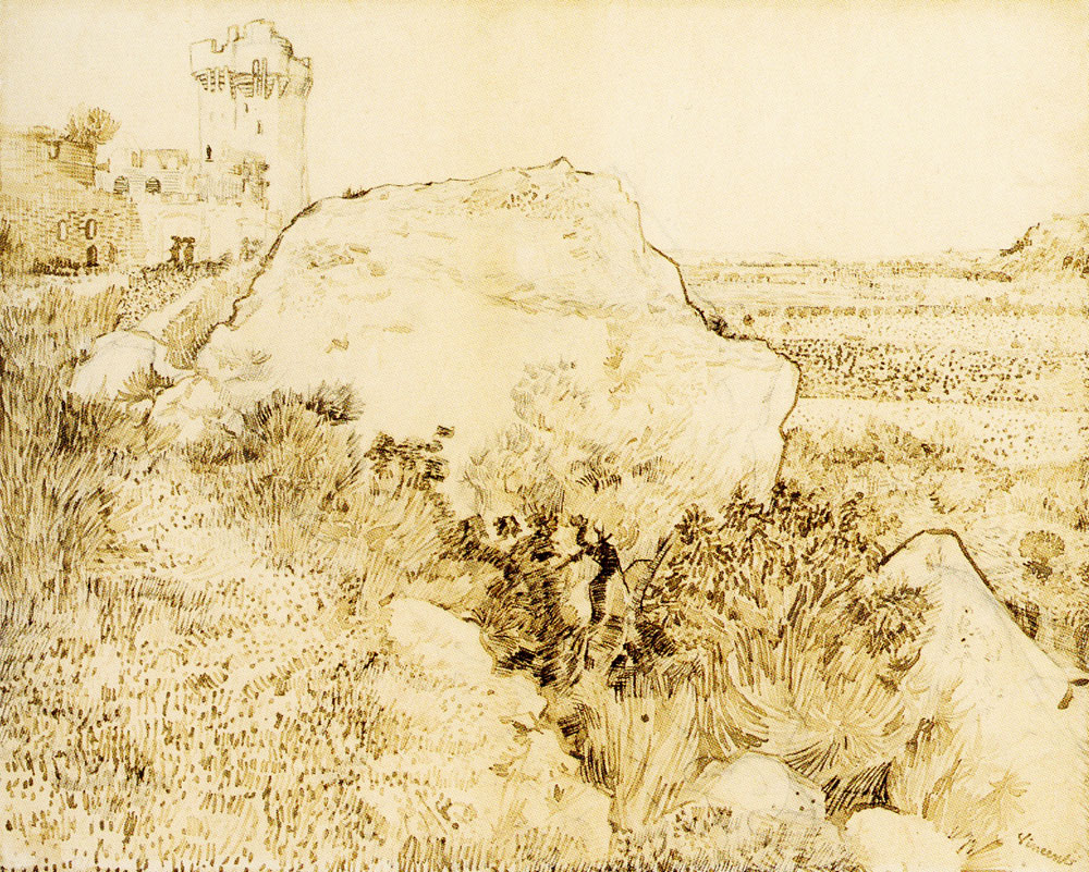 Vincent van Gogh - Hill with the Ruins of Montmajour