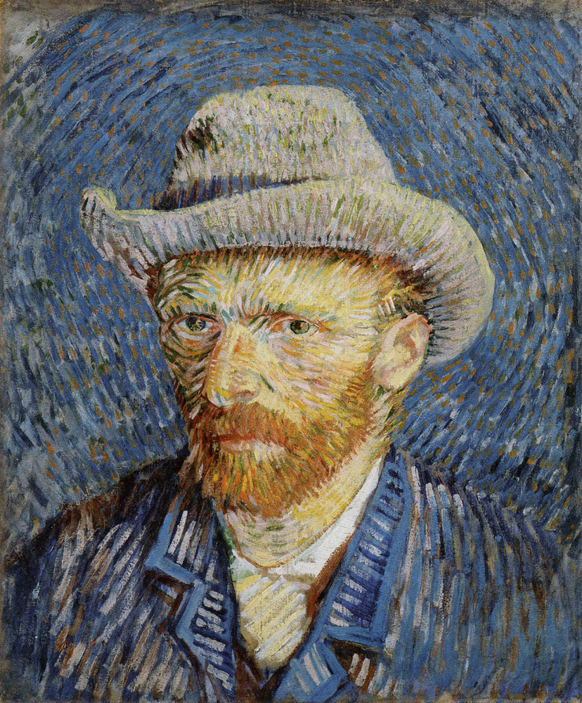 Vincent van Gogh - Self-Portrait with Gray Felt Hat