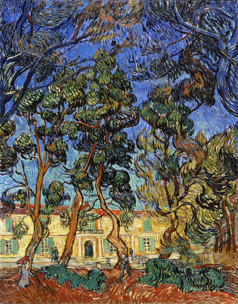 Vincent van Gogh - Trees in Front of the Entrance to the Asylum
