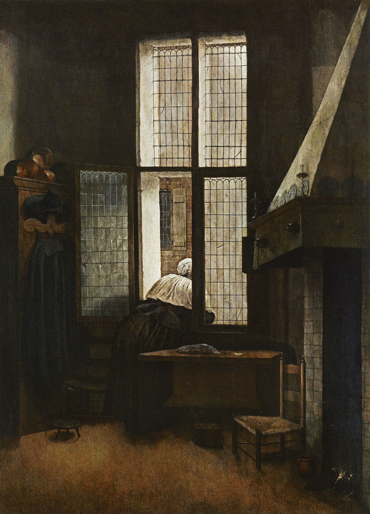 Jacobus Vrel - A Woman at a Window