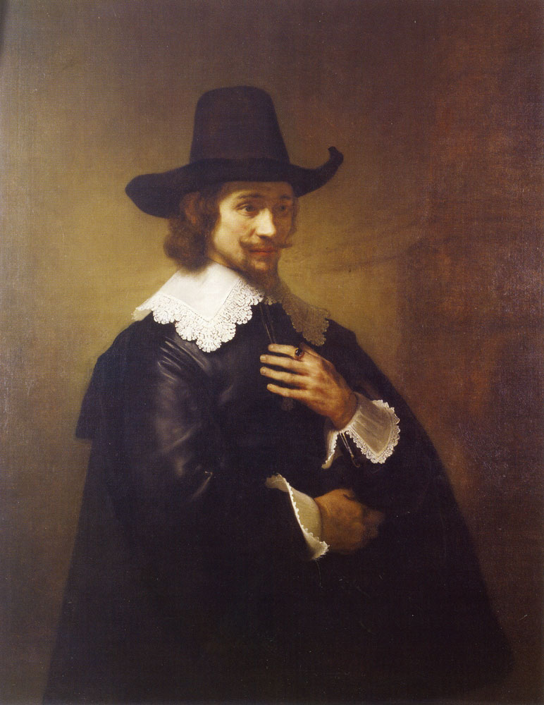 Workshop of Rembrandt - Portrait of a Young Man in a Broad-brimmed Hat