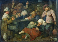 Adriaen Brouwer Inn with Smoking and Drinking Farmers