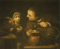 Arent de Gelder Elisha and the Widow of the Prophet Pouring the Flasks of Oil
