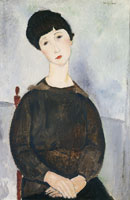 Amedeo Modigliani Seated Girl with Brown Hair