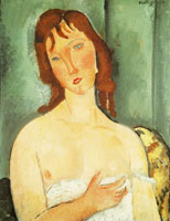 Amedeo Modigliani Portrait of a Young Woman