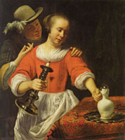 Cornelis Bisschop A Young Woman and a Cavalier