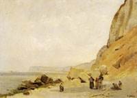 Jean Baptiste Camille Corot Chalk Cliffs at Yport