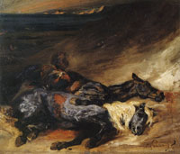 Eugène Delacroix Evening after a Battle