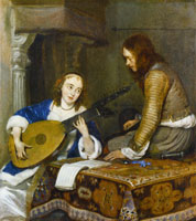 Gerard ter Borch An Officer with a Woman Playing Lute