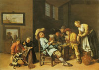 Jan Miense Molenaer Children Playing Cards
