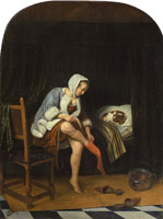 Jan Steen Woman at her Toilet