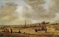 Jan van Goyen A Beach with Fishing Boats