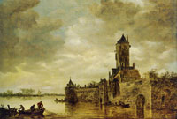 Jan van Goyen Castle by a River