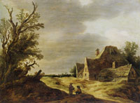 Jan van Goyen Sandy Road with a Farmhouse