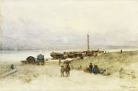 Johannes Bosboom Beach at Scheveningen