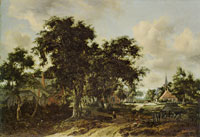 Meindert Hobbema Entrance to a Village