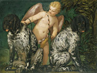 Paolo Veronese Cupid with Two Dogs