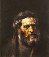 Attributed to Rembrandt Head of a Bearded Man