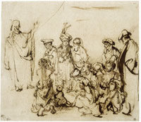 Rembrandt Christ Preaching