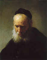 Rembrandt Head of an old man