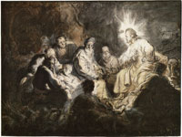 Rembrandt Jesus and His Disciples