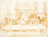 Rembrandt after Leonardo da Vinci The Last Supper