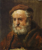 Style of Rembrandt Study Head of an Old Man