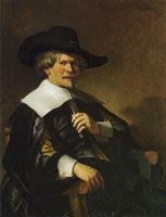Style of Rembrandt Portrait of a Man Seated in an Armchair
