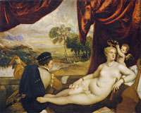 Titian and workshop Venus and the Lute Player