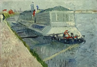 Vincent van Gogh Bathing Boat on the Seine