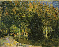 Vincent van Gogh A Lane in the Public Garden