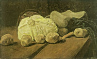 Vincent van Gogh Still Life with Cabbage and Clogs