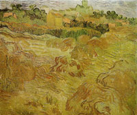 Vincent van Gogh View of Auvers with Wheatfield