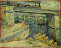 Vincent van Gogh Bridges Across the Seine at Asnières