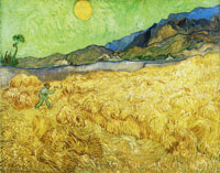 Vincent van Gogh Enclosed Field with Reaper at Sunrise