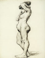 Vincent van Gogh Female Nude, Standing, Seen from the Side